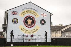 Belfast / murals. Murals in Northern Ireland have become symbols of Northern Ireland, depicting the region's past and present political and religious divisions Royalty Free Stock Photography