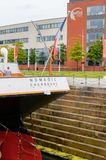 Nomadic (1911), a steamship of the White Star Line. BELFAST, NI - JULY 16, 2016: Back view of the SS Nomadic (1911), a steamship of the White Star Line. It was a royalty free stock photos