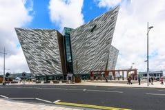 BELFAST, NORTHERN IRELAND - AUGUST 24, 2018: Titanic Belfast royalty free stock photography
