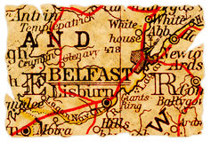 Belfast old map Royalty Free Stock Photography
