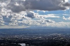 Belfast panoramic view - Northern Ireland. Belfast Cave Hill Country Park - unforgettable panoramic view from McArt's Fort on Belfast and Mourne Mountains Royalty Free Stock Images