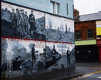 Belfast politic murals Royalty Free Stock Photography