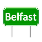 Belfast road sign. Royalty Free Stock Photography