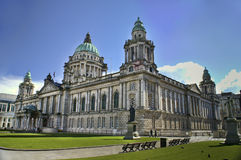 belfast stadshus nordliga ireland Royaltyfri Foto