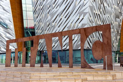 Belfast Titanic visitor attraction and a monument stock photography