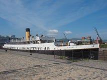 SS Nomadic Titanic tender boat in Belfast stock photo