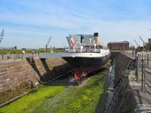 SS Nomadic Titanic tender boat in Belfast royalty free stock photography