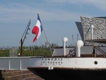 SS Nomadic Titanic tender boat in Belfast royalty free stock photo