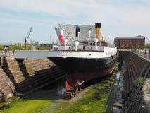 SS Nomadic Titanic tender boat in Belfast stock images