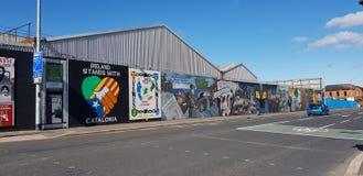 Belfast väggmålningar fotografering för bildbyråer