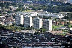 Belfast vier Wohnblöcke - Nordirland lizenzfreies stockbild