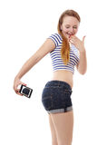 Belfie o selfie del extremo Foto de archivo