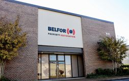 Belfor Propriedade Restauração Empresa, Memphis, TN fotos de stock royalty free