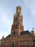 belfort dzwonnica Belgium Bruges Fotografia Stock