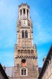 Belfort i Bruges Arkivbild