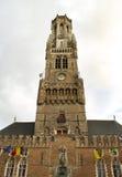 Belfort-Kontrollturm Brügge, Belgien Stockfotos