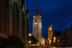 The Belfort and Lace Hall  in Ghent, Belgium Royalty Free Stock Photo