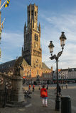 Belfort. Market square. Bruges. Belgium Royalty Free Stock Photography