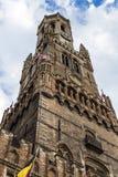 Belfort nel vecchio centro di Bruges, Fiandre, Belgio Fotografia Stock