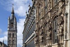 Belfort och Stadhuis - Ghent - Belgien Royaltyfri Foto
