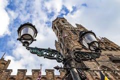 Belfort in old center of Brugge, Flanders, Belgium Stock Photos