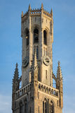 Belfort Quadrato del mercato Bruges belgium immagine stock libera da diritti