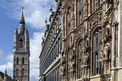 Belfort, Stadhuis, Ghent i Belgia - Zdjęcie Royalty Free