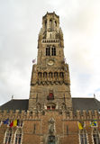 Belfort Tower Bruges, Belgium. Belfort Tower in Bruges, Belgium Stock Photos