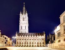 Belfort tower in historical part city of Ghent, Belgium Royalty Free Stock Photos