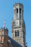 Belfort tower (town hall) in Brugge Stock Image