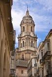 Belfray von der des Màlagas Kathedrale Stockfotos
