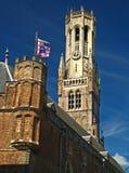 Belfrey av Bruges 04 Arkivbilder