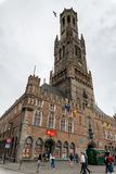Belfried i Bruegge, forntida stad i Belgien Europa royaltyfri fotografi