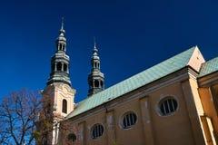 Belfries baroque Catholic monastery Royalty Free Stock Photo
