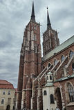 Belfries of the Gothic church Royalty Free Stock Image