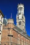 Belfry Брюгге, Бельгии Стоковые Изображения