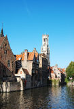 Belfry. In the old town of Bruges - Belgium Stock Photography