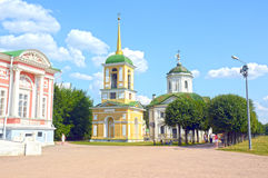 Belfry. 1792 Architects Mironov, Dikushin Temple of the Holy Cross. Saviour 1737-39 Royalty Free Stock Image