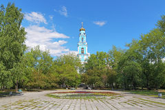 Belfry of Ascension Church in Yekaterinburg Royalty Free Stock Photography