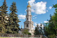 Belfry of the Assumption Cathedral in Kharkiv, Ukraine Royalty Free Stock Images