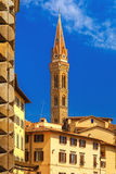Belfry of Badia Fiorentina in Florence, Italy Stock Photo