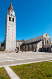 Belfry and Basilica di Aquileia Royalty Free Stock Photo