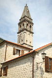 Belfry or bell tower of the church in Europe Stock Images