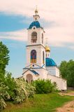 Belfry. Bell tower of one of the convents in the Yaroslavl region Stock Image