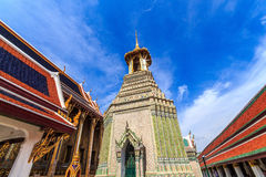 Belfry. Belltower the Grand Palace, Wat Phra Kaew in Bangkok in Thailand , many tourists attractions . From all over the world come to visit and enjoy the royalty free stock photography