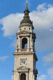 Belfry at blue sky in Budapest Stock Image