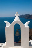 Belfry at blue sky on Santorini  island Royalty Free Stock Images