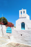 Belfry at blue sky on Sifnos island Royalty Free Stock Photo