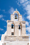 Belfry at blue sky on Sifnos island, Greece Royalty Free Stock Image
