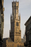 Belfry in Bruges. Belfry tower set in the historic market square of Bruges in Belgium; Europe Stock Photos